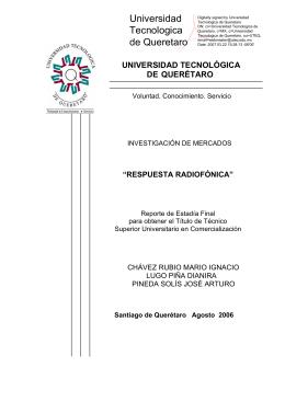 respuesta radiofónica - Universidad Tecnológica de Querétaro