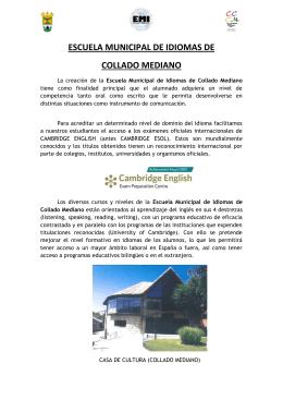 ESCUELA MUNICIPAL DE IDIOMAS DE COLLADO MEDIANO