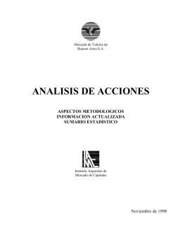 ANALISIS DE ACCIONES