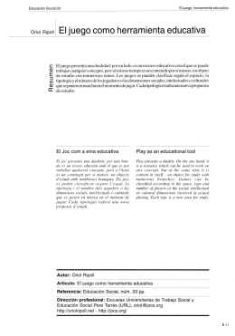 Oriol Ripoll El juego como herramienta educativa