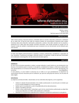TALLER DE VIDEOCLIP - Escuela de Cine de Chile
