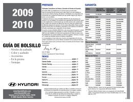 GUÍA DE BOLSILLO - HyundaiProductInformation.com