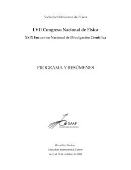 LVII Congreso Nacional de Física - Instituto Avanzado de Cosmología