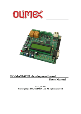 PIC-MAXI-WEB development board Users Manual