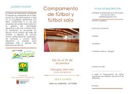 Campamento de fútbol y fútbol sala