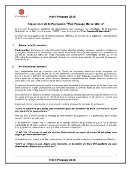 Plan Prepago Universitario