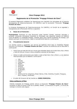 reglamento promoc. prepago primero (1 al 15 marzo 2014)