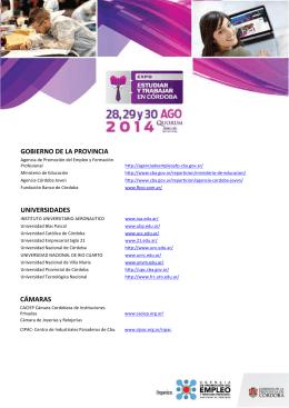 Expositores para web - Gobierno de la Provincia de Córdoba