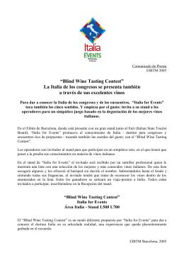 """Blind Wine Tasting Contest"" La Italia de los"
