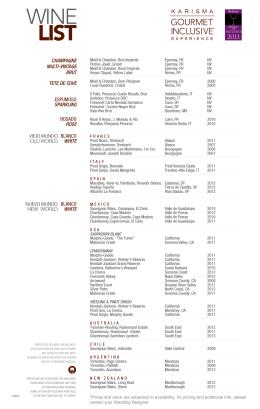 Listas de vinos Venta 020914-precios en Dolares