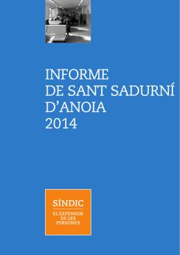 INFORME DE SANT SADURNÍ D`ANOIA 2014
