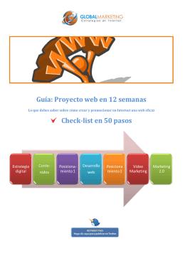 Guía: Proyecto web en 12 semanas Check-list en 50