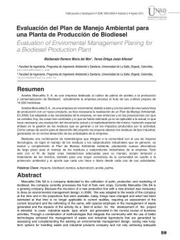Evaluación del Plan de Manejo Ambiental para una Planta de