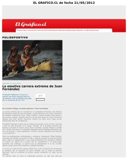 La emotiva carrera extrema de Juan Fernández EL GRAFICO.CL de
