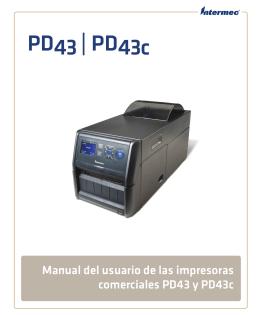 Manual del usuario de las impresoras comerciales PD43