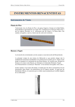 Instrumentos renacentistas