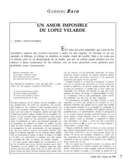 Un amor imposible de Ramón López Velarde
