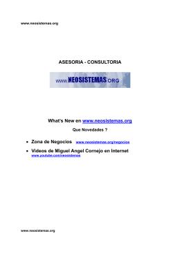 plan de negocio - NEOSISTEMAS.org