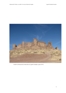 Castillo de Almonacid de Toledo (foto de Agustín Fernández, agosto