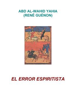 Guenon, Rene - El error espiritista