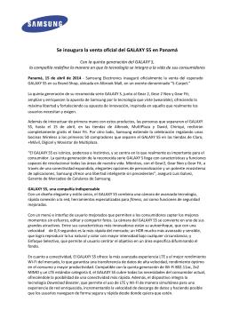 Se inaugura la venta oficial del GALAXY S5 en Panamá