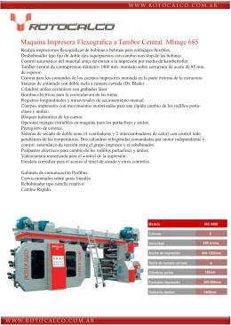 Maquina Impresora Flexografica a Tambor Central MIrage 685