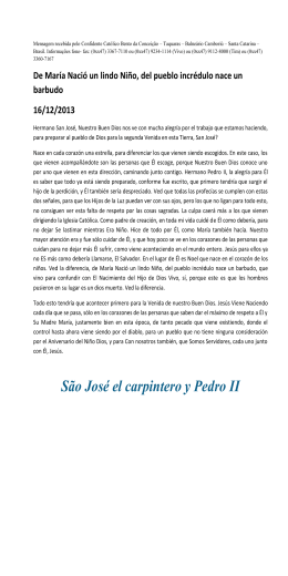 São José el carpintero y Pedro II
