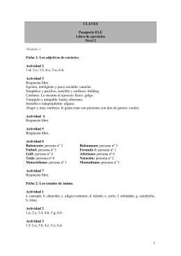 1 CLAVES Pasaporte ELE Libro de ejercicios Nivel 2