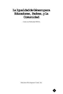 La Igualdad prepared for PDF format