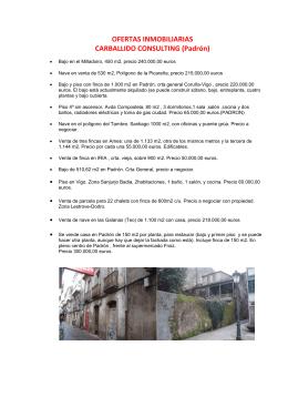 OFERTAS INMOBILIARIAS CARBALLIDO CONSULTING (Padrón)