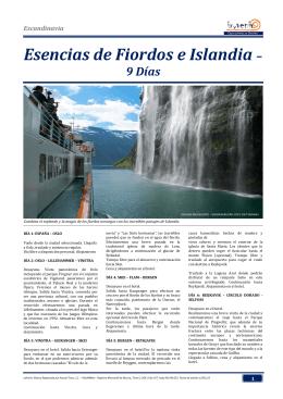 Esencias de Fiordos e Islandia – 9 Días