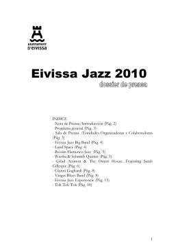Dossier de Prensa. Eivissa Jazz 2010