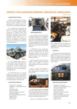 soporte vital avanzado blindado. bmr-600 m1 ambulancia