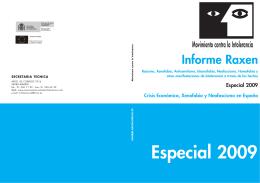 Informe Raxen - Especial 2009 - Observatorio de Antisemitismo