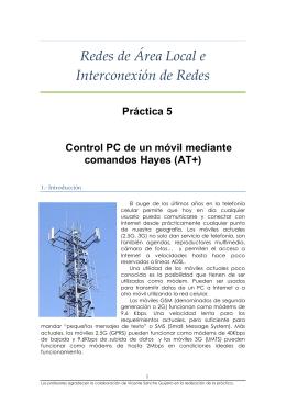 Redes de Área Local e Interconexión de Redes Práctica 5 Control