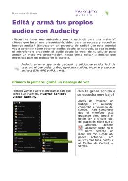 Editar audio con Audacity en Huayra