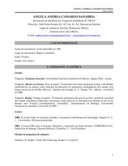 Curriculum Vitae - Instituto de Ecología Campus Morelia