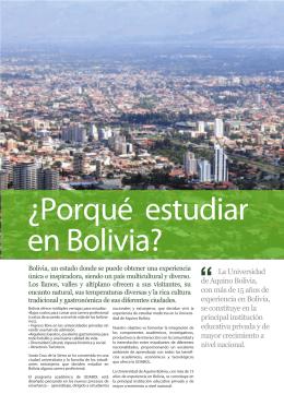 porque estudiar en Bolivia