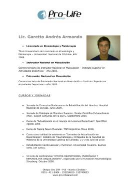 Lic. Garetto Andrés Armando - Pro