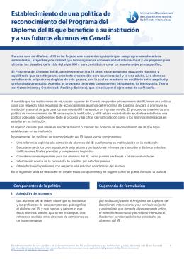 Canadá - International Baccalaureate