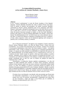 La temporalidad bergsoniana en las estéticas de Antonio Machado
