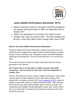 zanox Mobile Performance Barometer 2015: