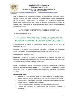 CONVOCATORIA CURSO INSTRUCTORES