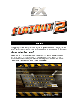 Trucos FlatOut 2