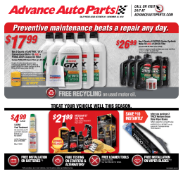 your choice - Advance Auto Parts