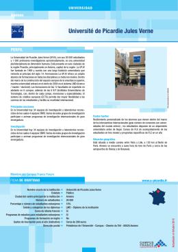 Université de Picardie Jules Verne