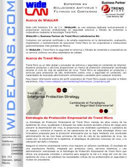 WideLAN & Trend Micro - Wide LAN Solutions S.A. de C.V.