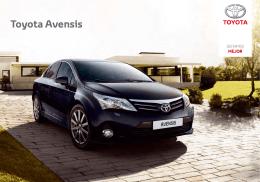 Catálogo TOYOTA Avensis - Año 2013 (2,35 Mb.)