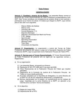 Título Primero GENERALIDADES Artículo 1º. Finalidad y alcance de