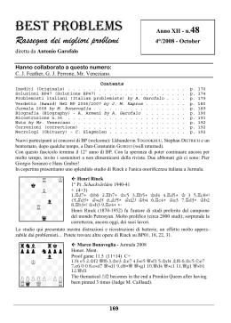 BEST PROBLEMS - Antonio Garofalo Home Page
